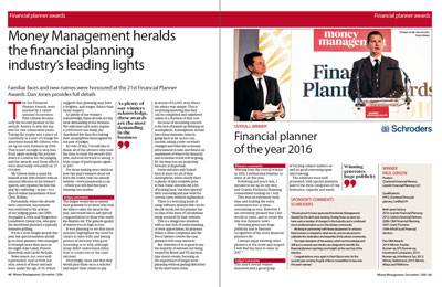 FT Financial Planner of the Year editoral